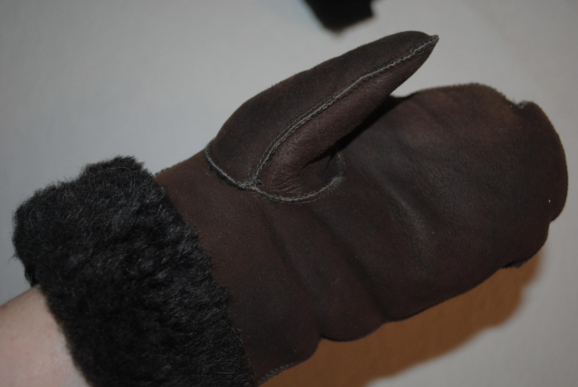 2ba5aa4c3b9cc5 GÓRALSKIE rękawiczki brąz SKÓRA KOŻUSZEK - 7112493359 - oficjalne ...