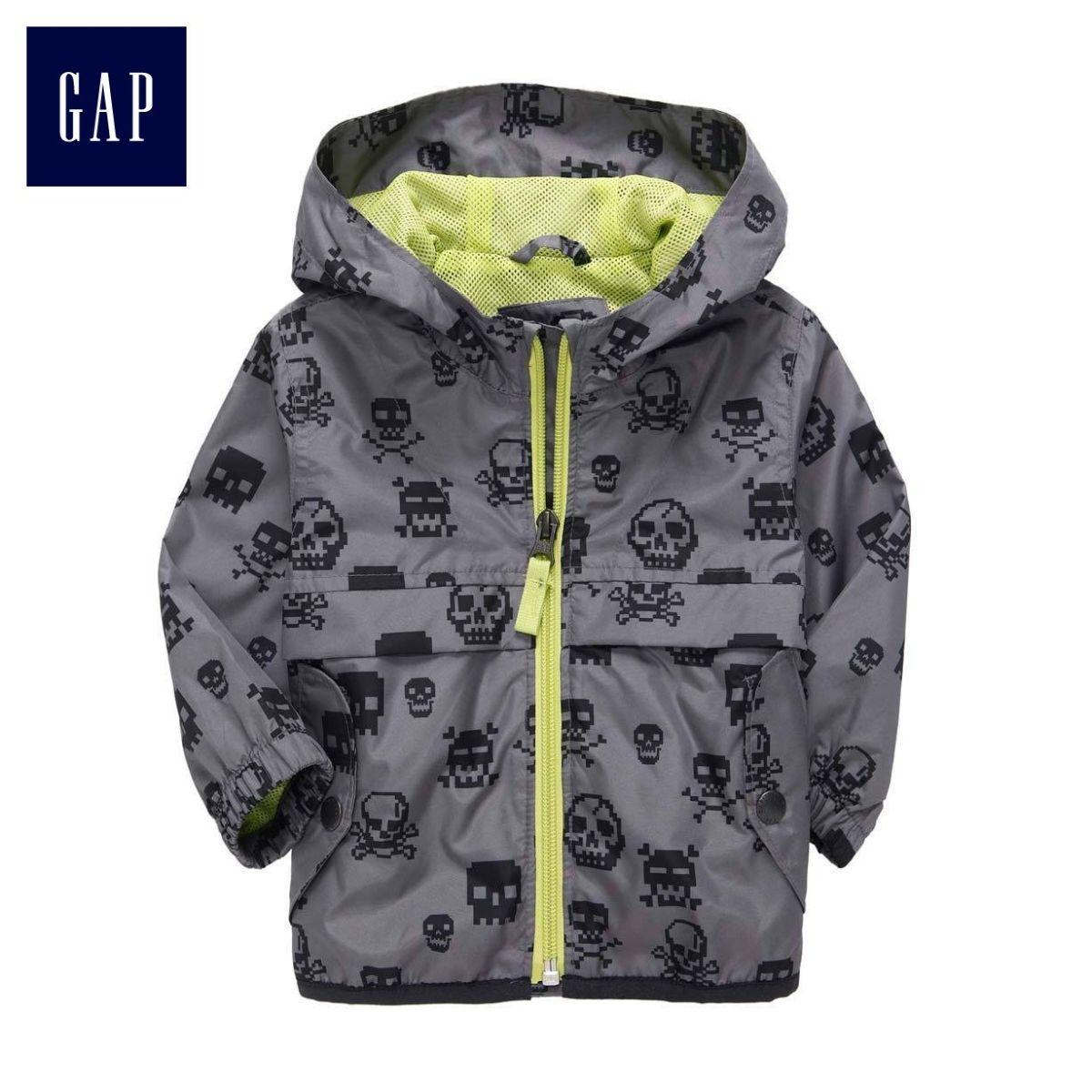 - 80% GAP Skull Anorak Grey 3 lata deszcz, wiatr