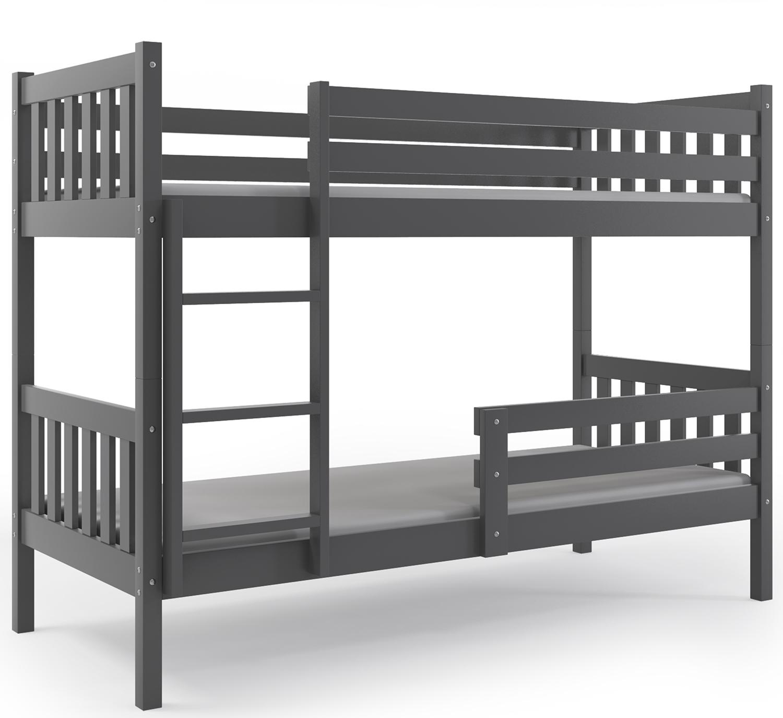 łóżko Piętrowe Carino 200x90 Dziecięce Materace