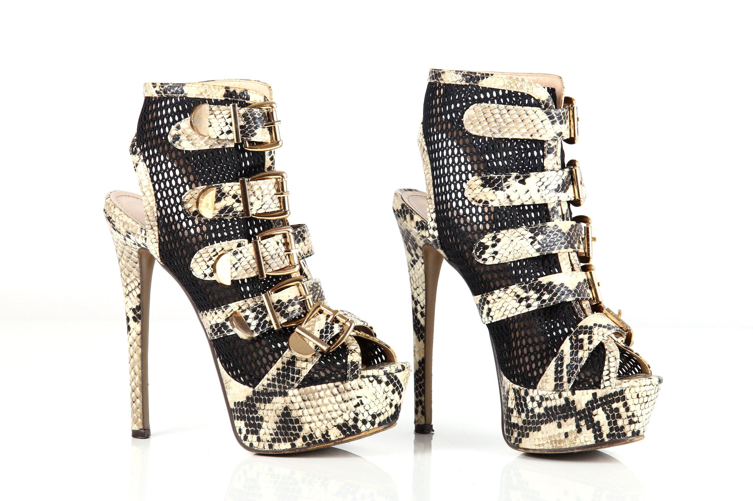 Groovy buty szpila czółenka motyw węża wysokie 38 MEGA - 7390476406 BN28