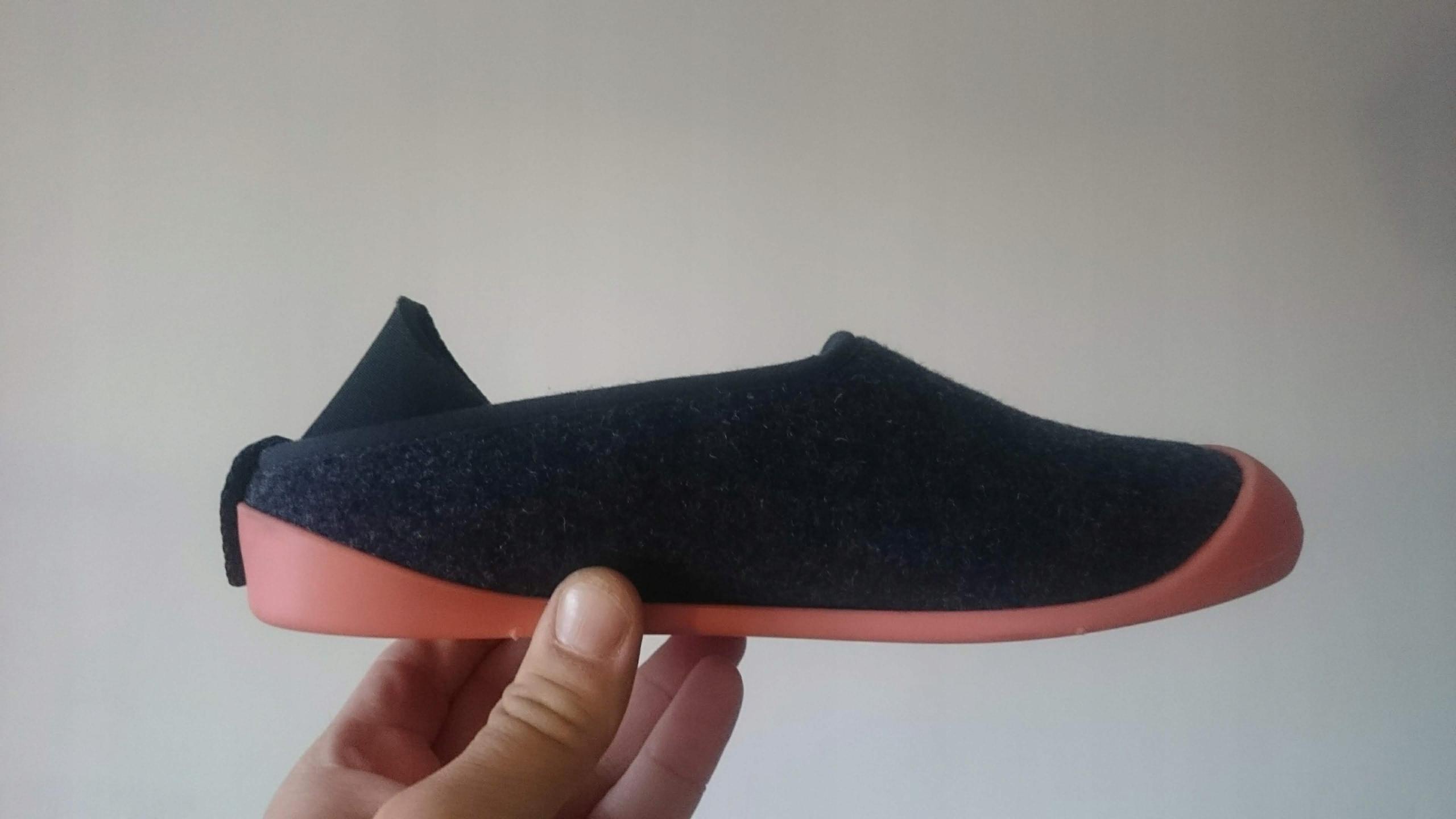 mahabis ciepłe kapcie / buty z dopinaną podeszwą