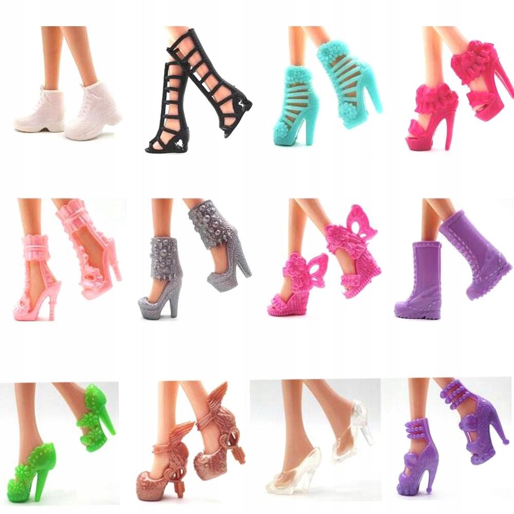 aeb32489bc2e8f Barbie 12 par butów ubranka akcesoria - 7509360351 - oficjalne ...