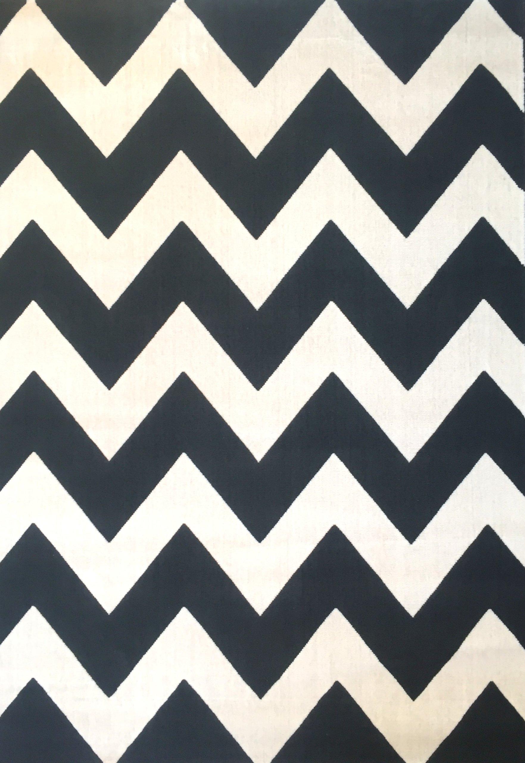 Dywan canvas 160x230 zygzak biało czarny skandi 7426903530 oficjalne archiwum allegro