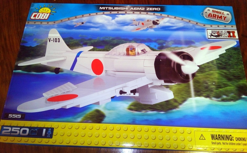hit! cobi small army 5515 samolot zero mitsubishi - 7093154245