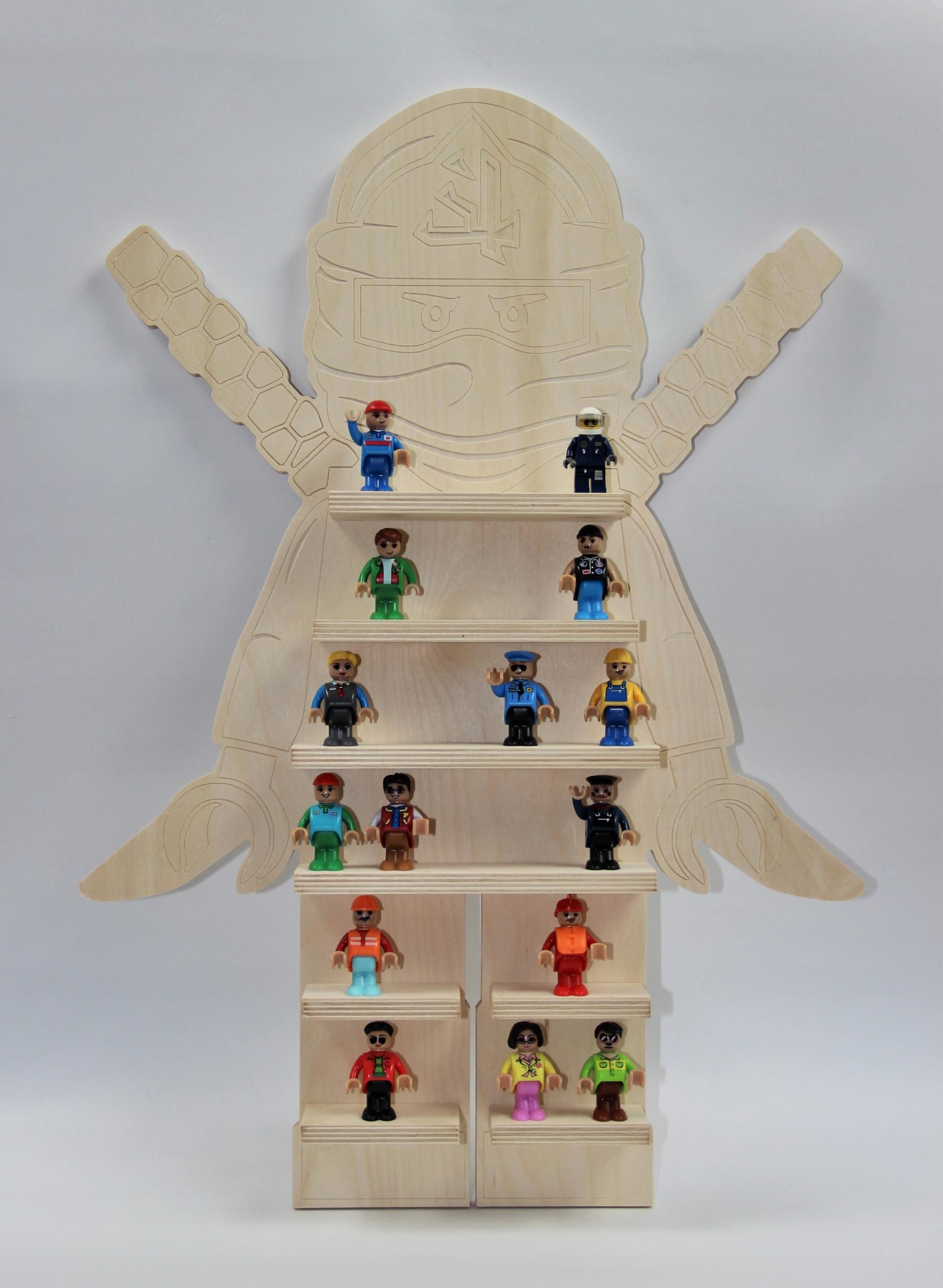 Półka Regał Na Klocki Ludziki Lego Cobi Ninjago 7638512430