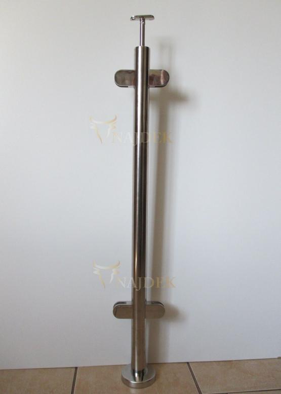 słupek nierdzewny środkowy do szkła 42,4 poler