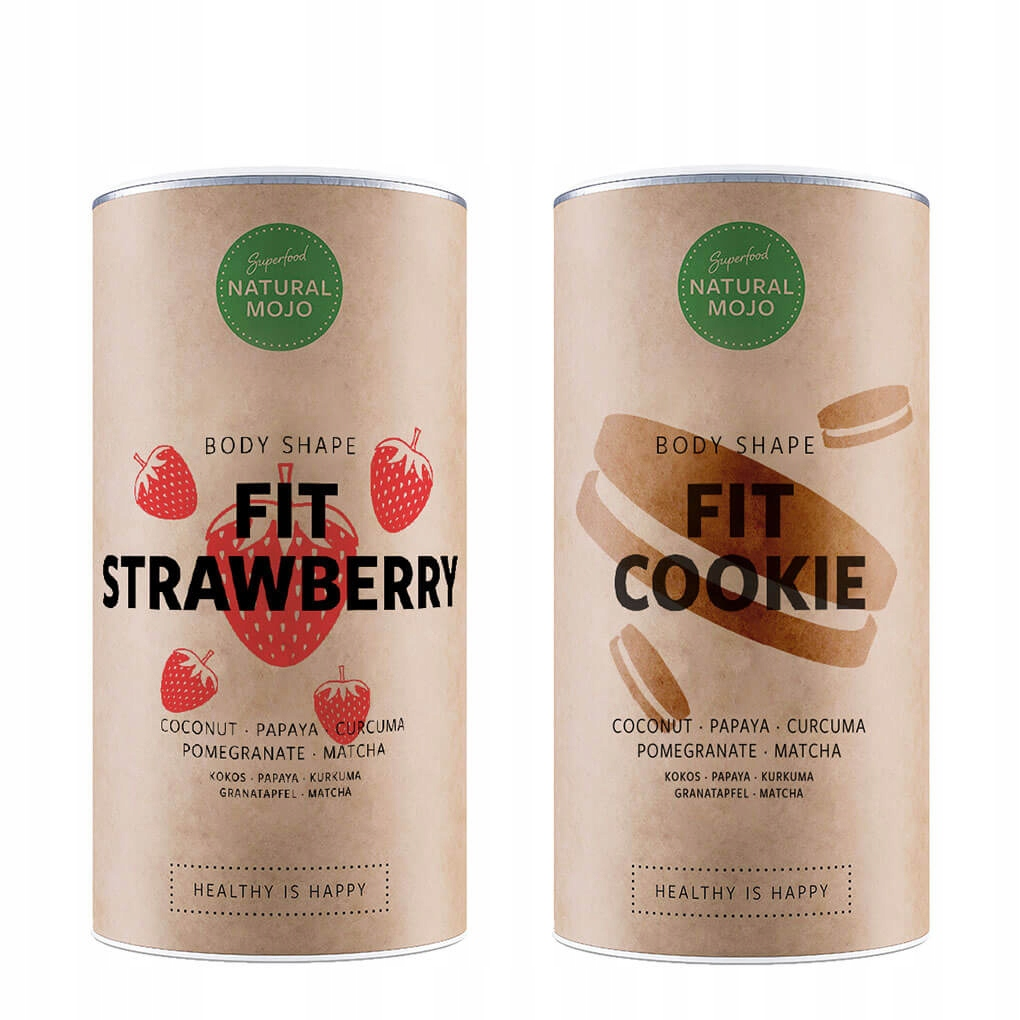 NATURAL MOJO zestaw Strawberry & Cookie