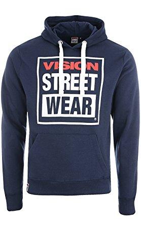 a01a1763ac5dcd VISION STREET WEAR bluza kangurka granat M - 7092251381 - oficjalne ...