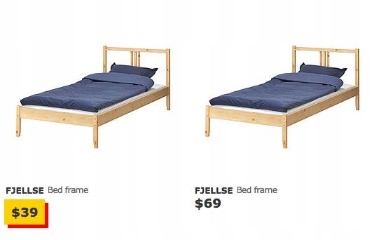 Ikea Fjellse Rama łóżka 90x200 Cm Dno Sosna