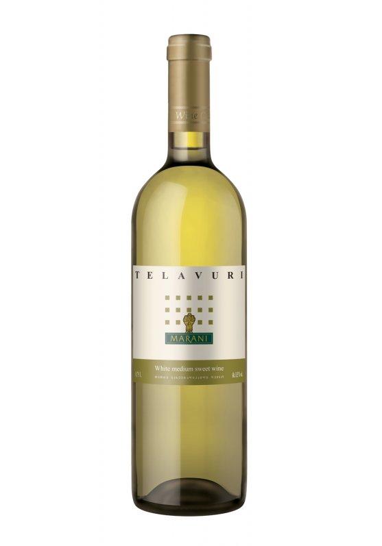Wino gruzińskie Tradycyjne białe półsłodkie Telavi