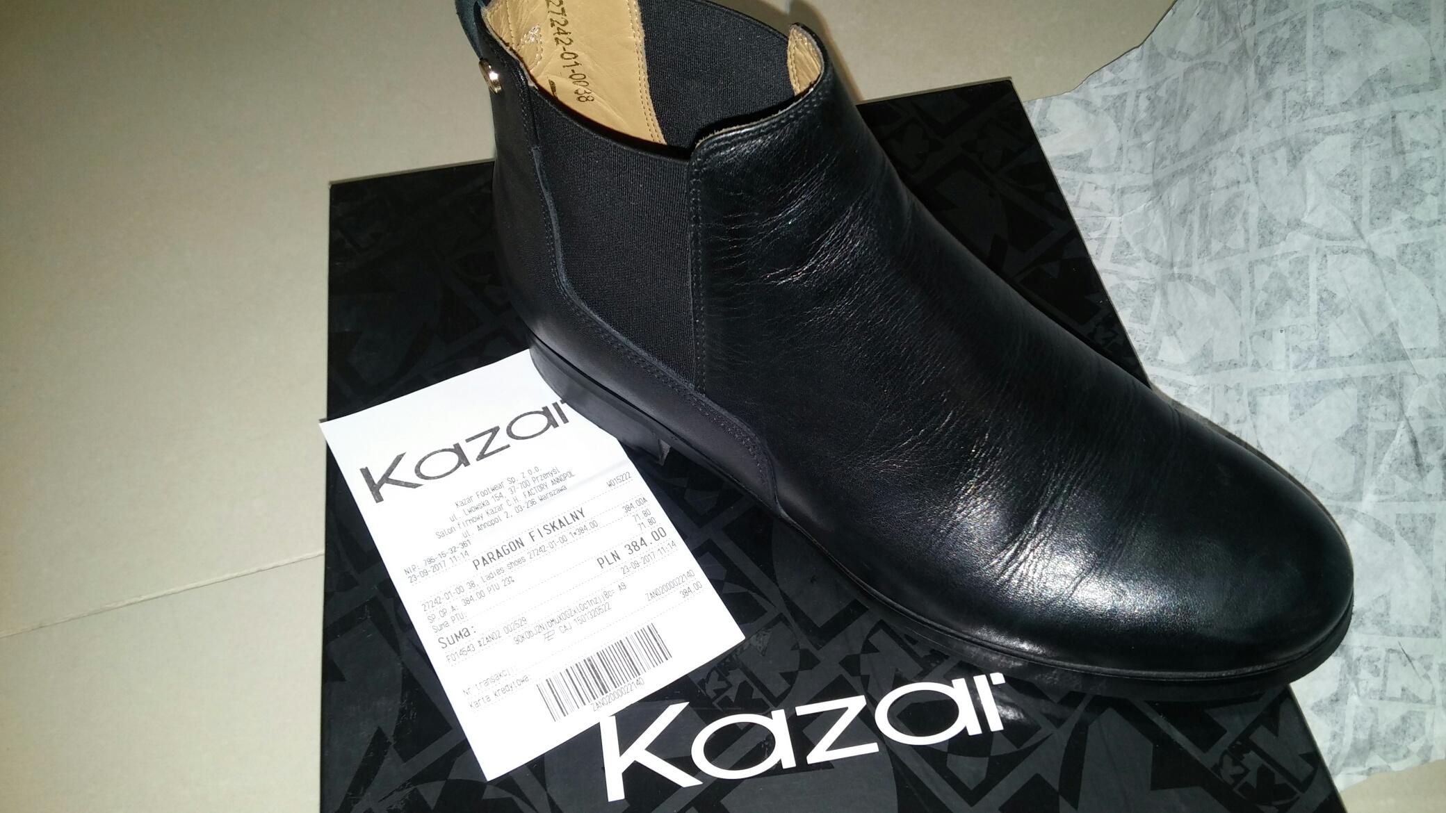 3260efa372b10 Kazar Buty Damskie rozmiar 38 Czarne Eleganckie - 7140405814 ...