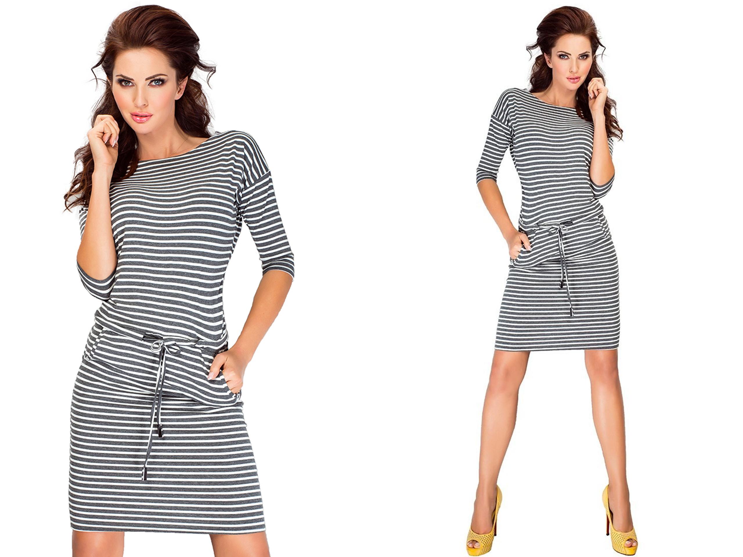 d28613b840 Elegancka Sukienka Wizytowa Biznesowa 13-11 S 36 - 7177863150 ...