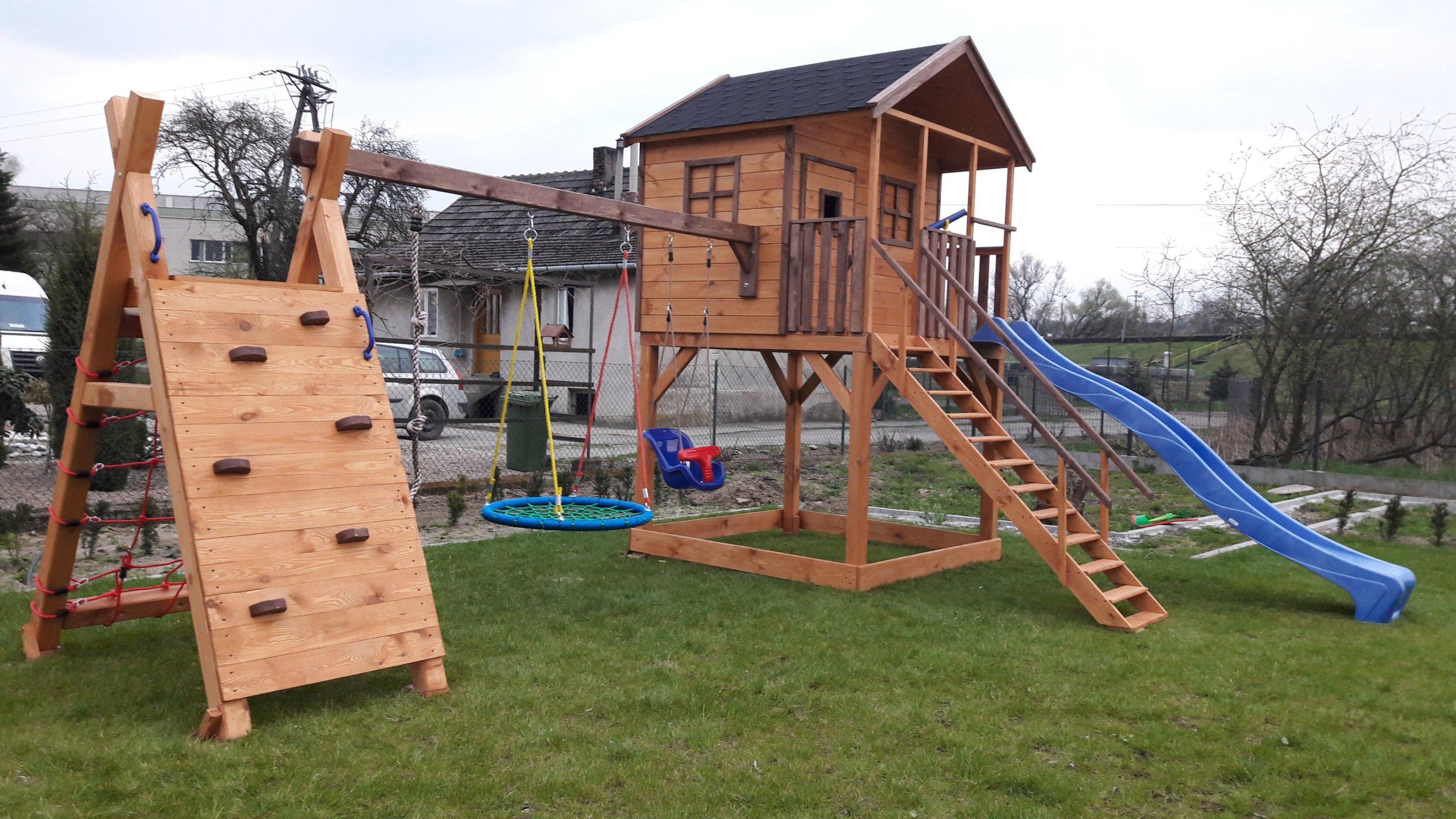 Młodzieńczy Domek drewniany dla dzieci plac zabaw WIELE WZORÓW - 6906724566 OX18