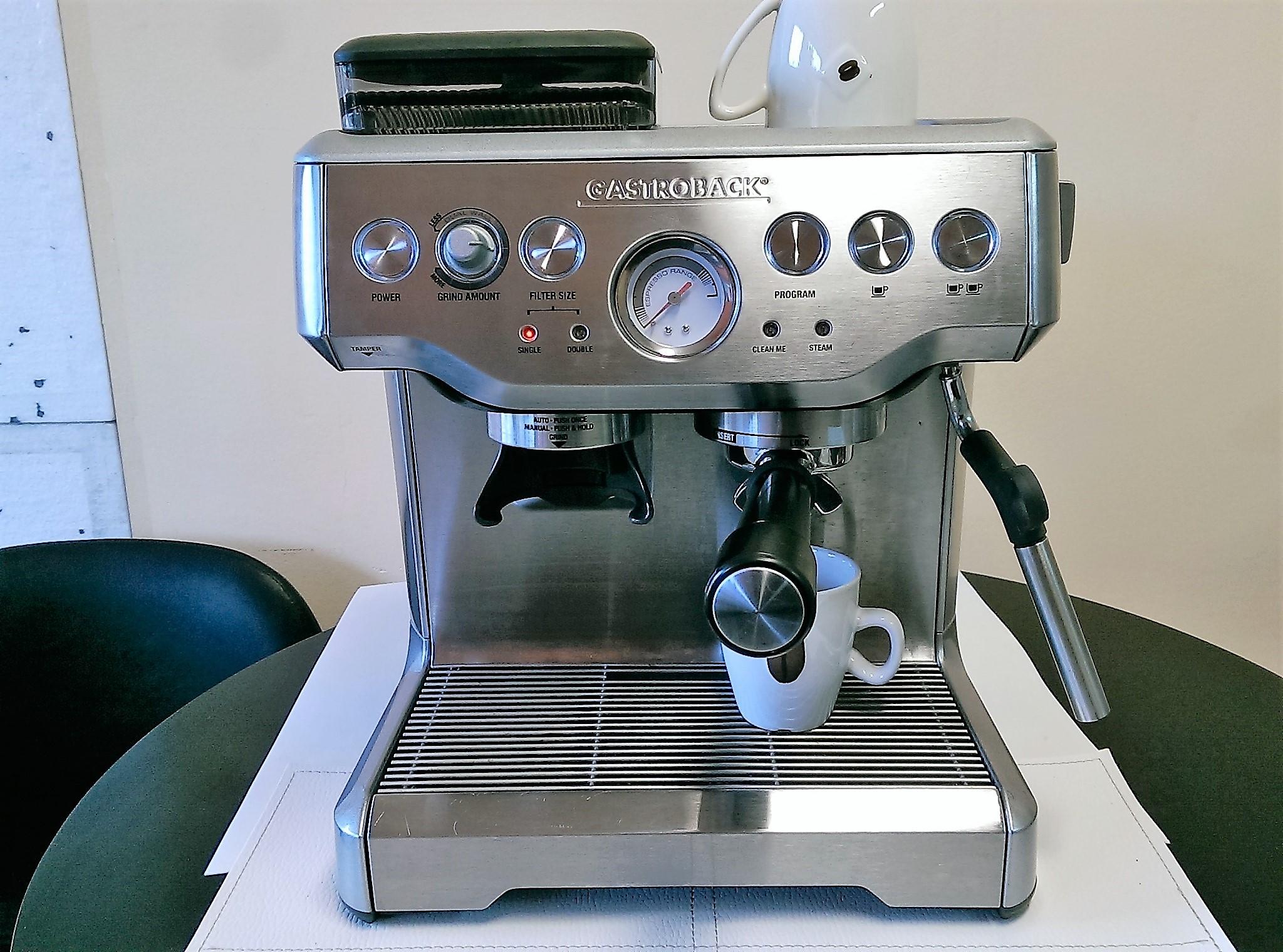 Tylko na zewnątrz Ekspres do kawy z młynkiem kolbowy Gastroback - 7080965289 UF34
