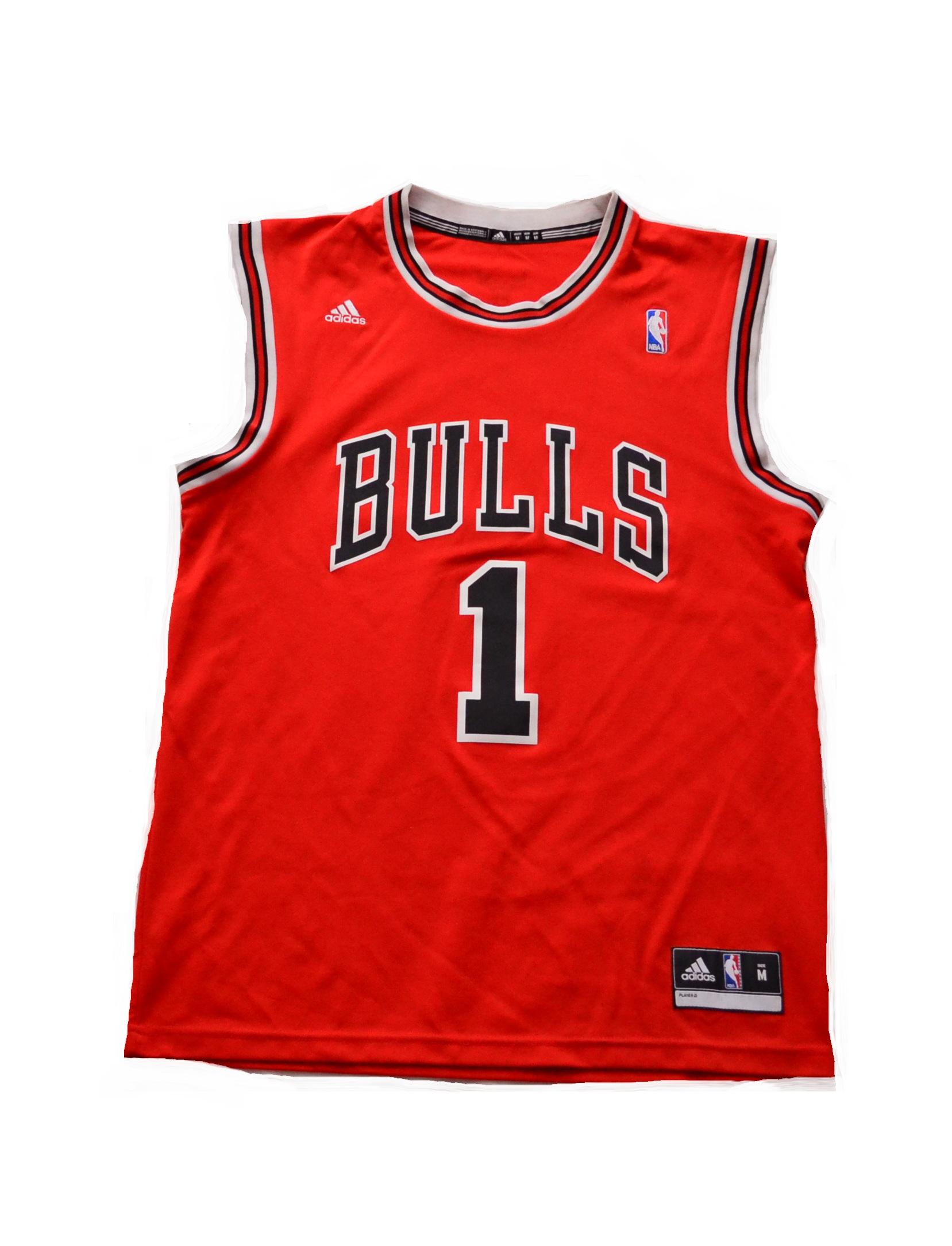 najnowszy duża obniżka gładki ADIDAS NBA koszulka meczowa ROSE --BULLS---- M