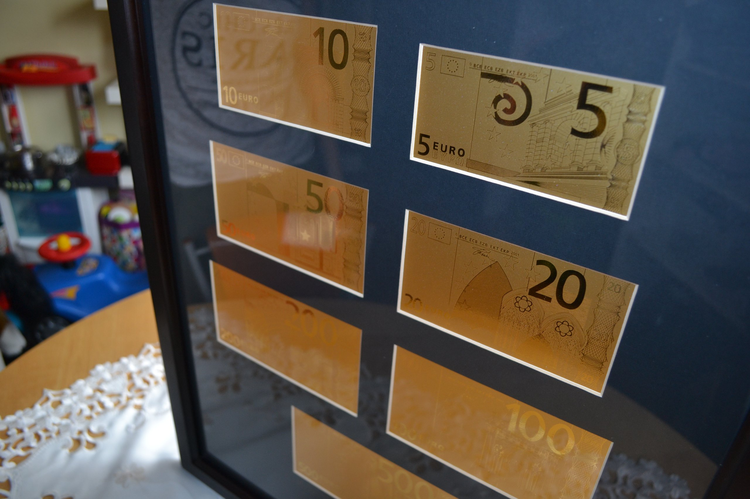 Kolekcja EURO od najmniejszego nominału
