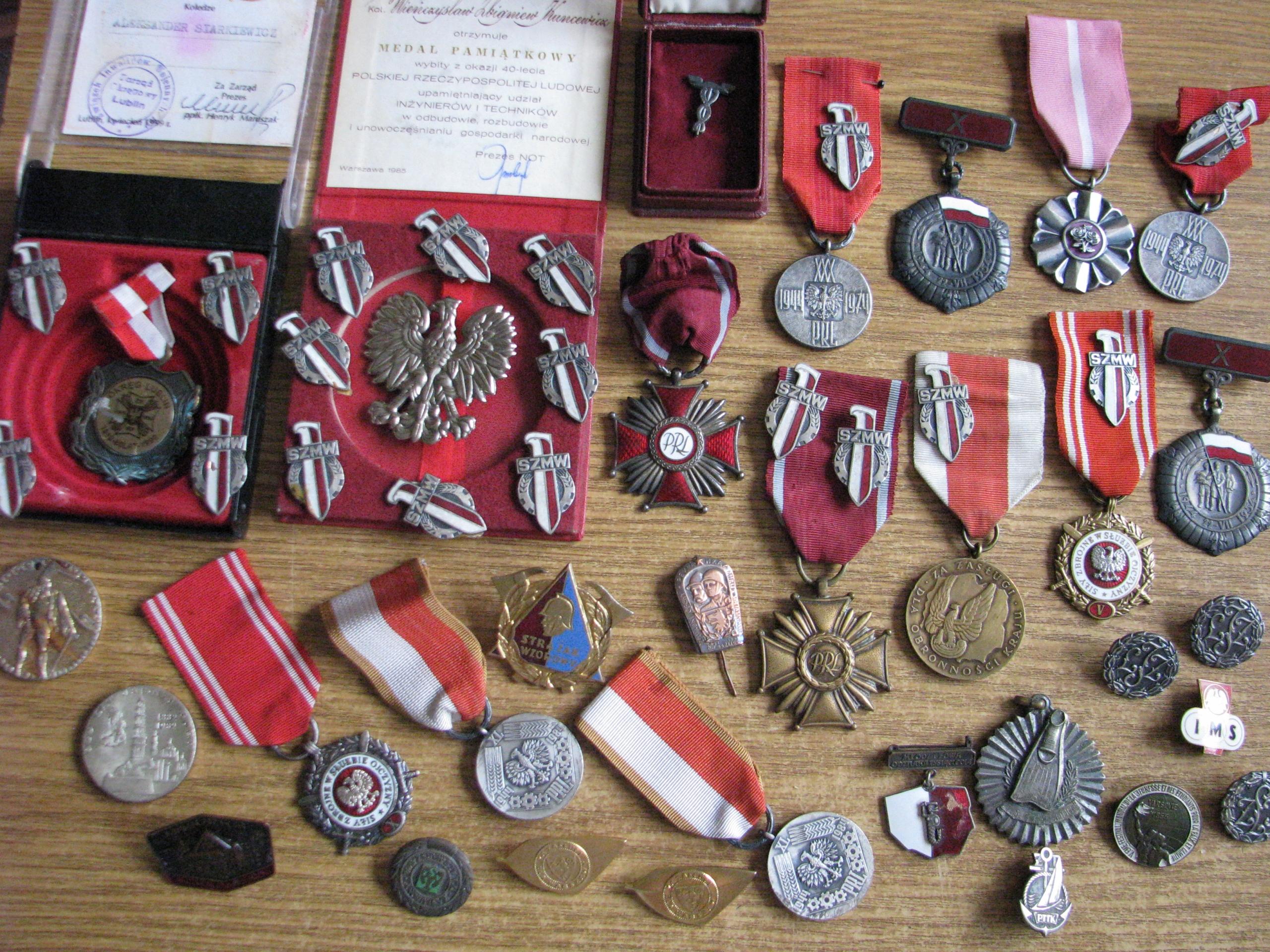 1944. Krzyż PRL, Odznaczenie, Medal, orzeł, SZWM