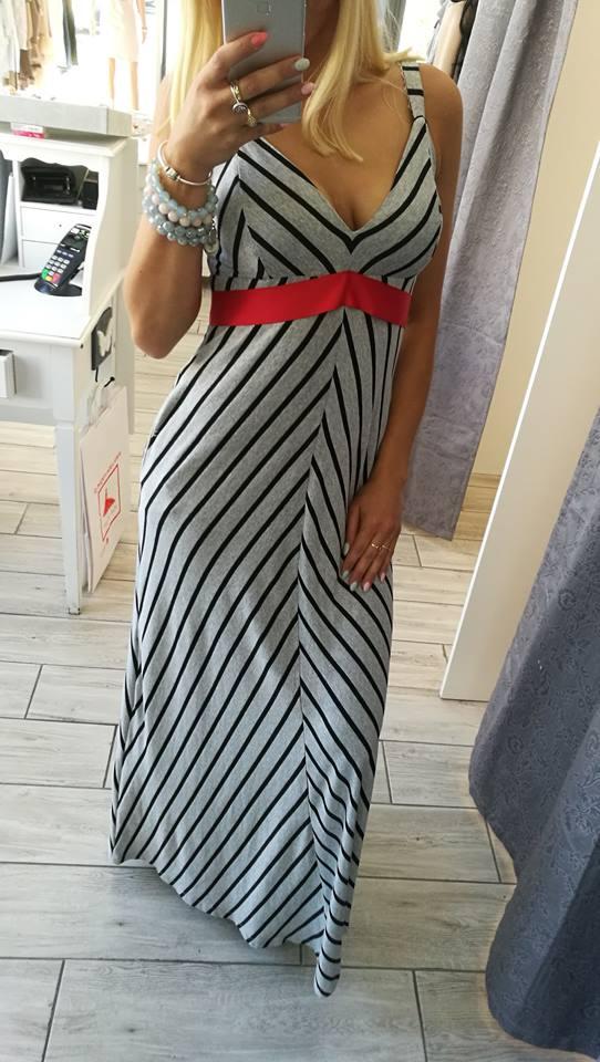 2049f243794a by o la la...! Maxi Sukienka Pasy K 3570 r.S - 7390051194 - oficjalne  archiwum allegro