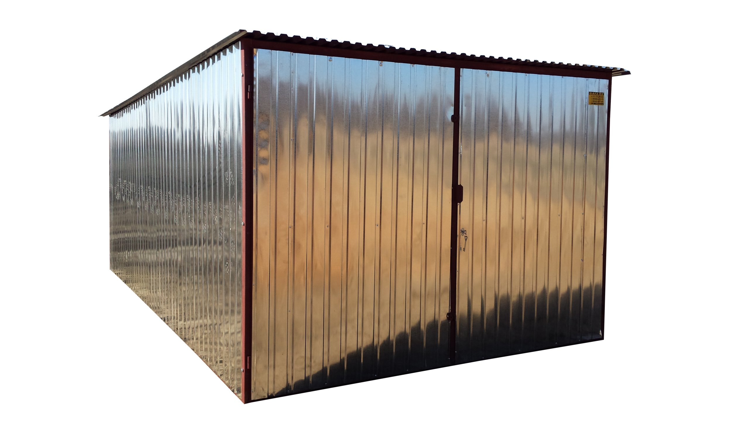 Ogromny GARAŻE BLASZANE garaz blaszany 3x5 śląsk KATOWICE - 6710646578 IS55