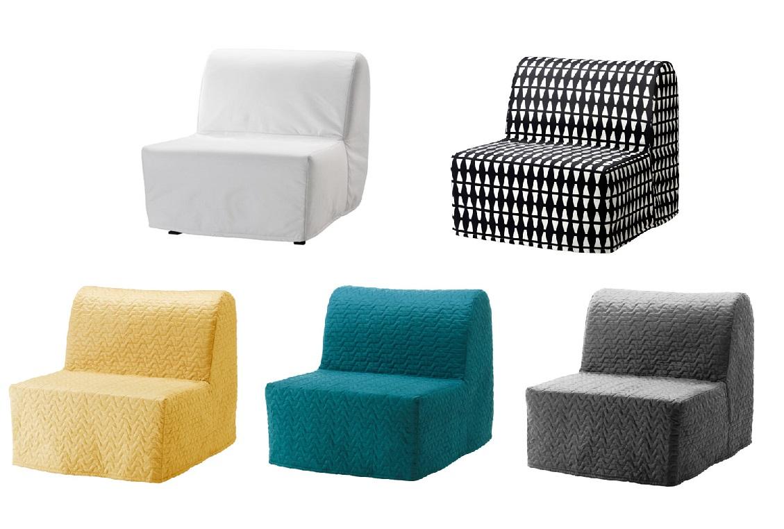 Ikea Fotel Rozkładany Lycksele Lovas łóżko 6673100779