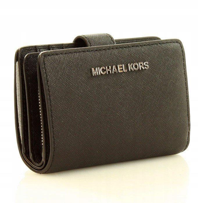 914c0d8403b4e Portfel damski Michael Kors JET SET TRAVEL czarny - 7659347801 ...