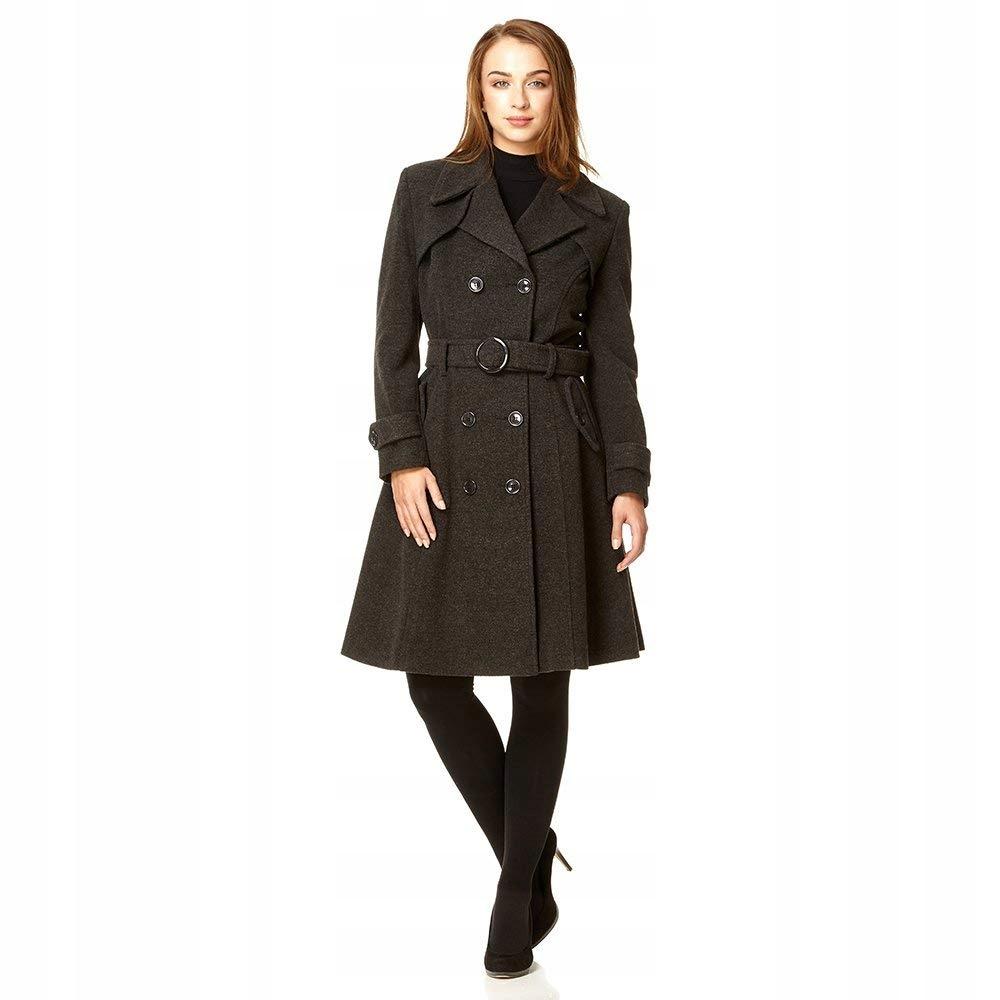 ebfb33b83a08 De La Creme - Płaszcz zimowy z kaszmiru i wełny - 7696228782 ...
