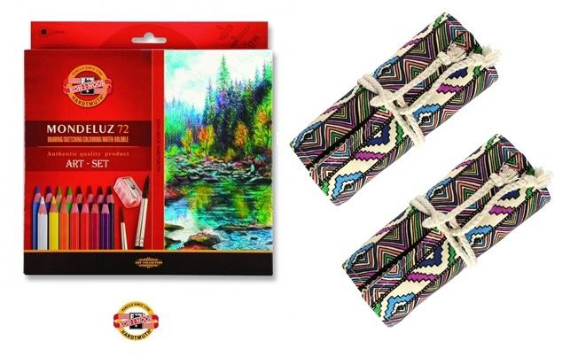 KOH-I-NOOR Kredki Mondeluz 72 + 2 etui kolor