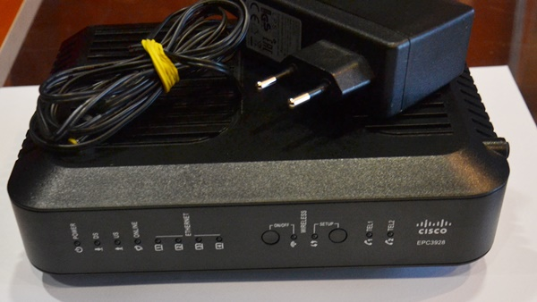 Router WiFi Modem kablowy Cisco EPC3928s zasilacz - 7291494904