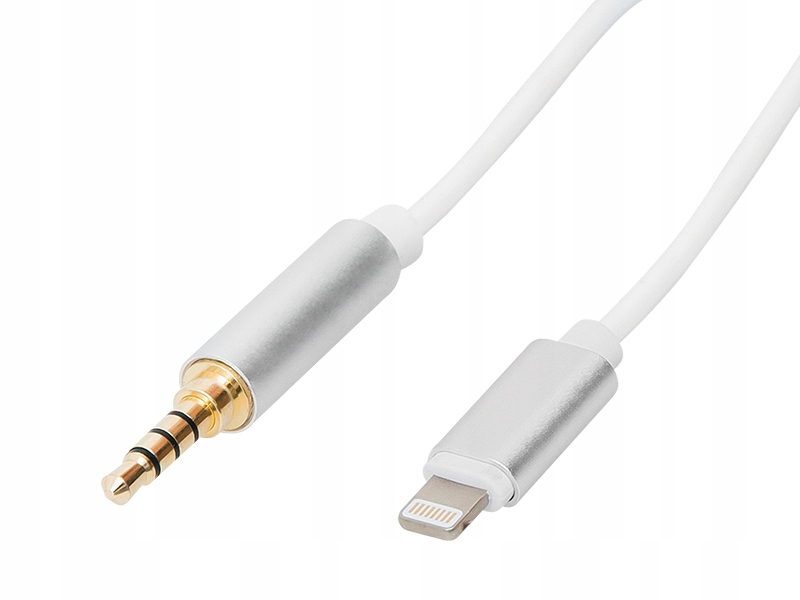promo code bc847 06ffb KABEL WTYK JACK 3,5 STEREO AUX IPHONE 5 6 7 8 1MB - 7620956267 ...