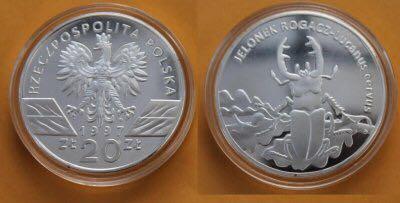 20 złotych 1997- Jelonek Rogacz