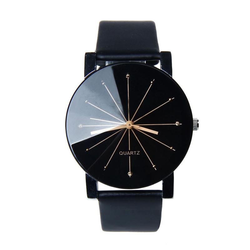 87c9c67dd46266 Damski zegarek ZŁOTY czarny RETRO pasek skórzany - 7602678915 ...