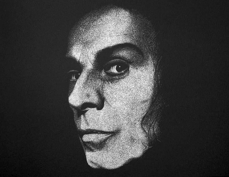 Ręcznie rzeźbiony Ronnie James Dio w blasze Grawer