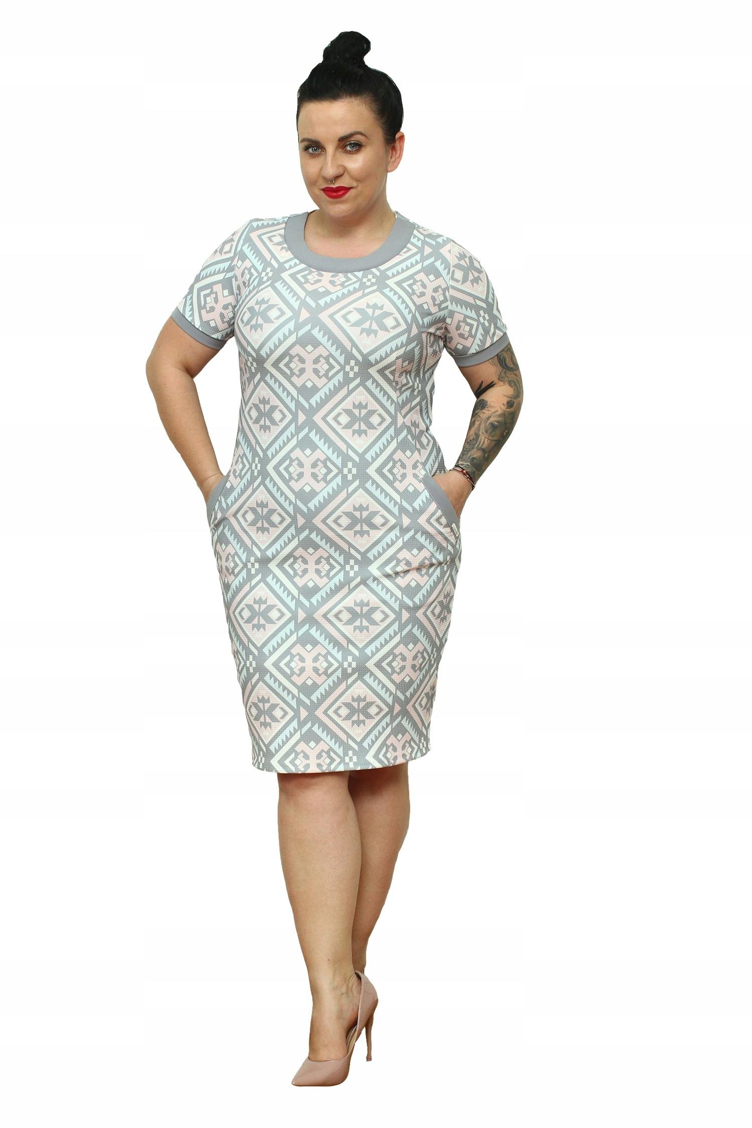 8a853fff71 WYPRZEDAŻ Sukienka Tekla pastelowa orientalna 46 - 7556524270 ...