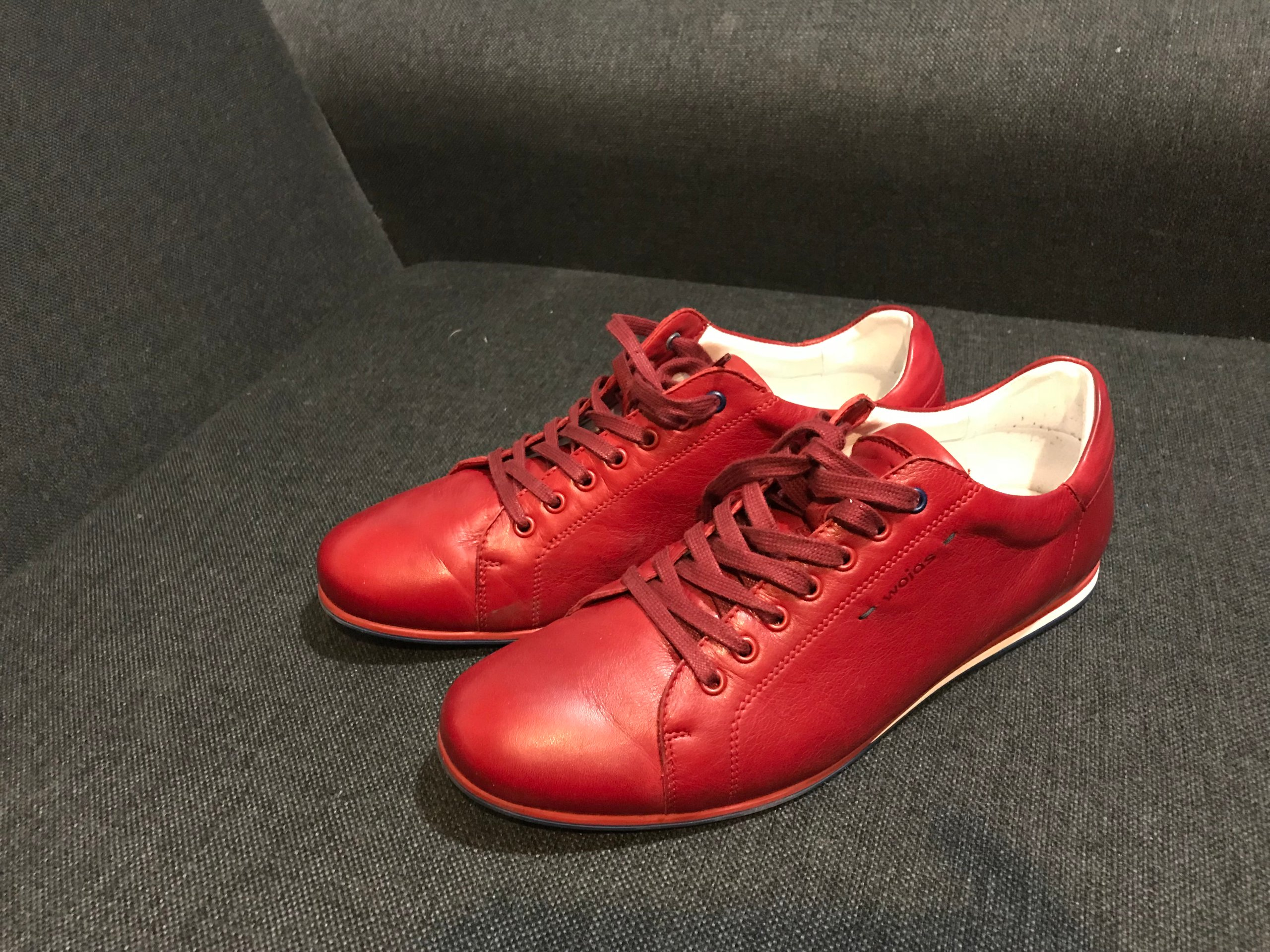 71f638e3b80e5 Czerwone buty męskie skórzane WOJAS - 7295916402 - oficjalne ...