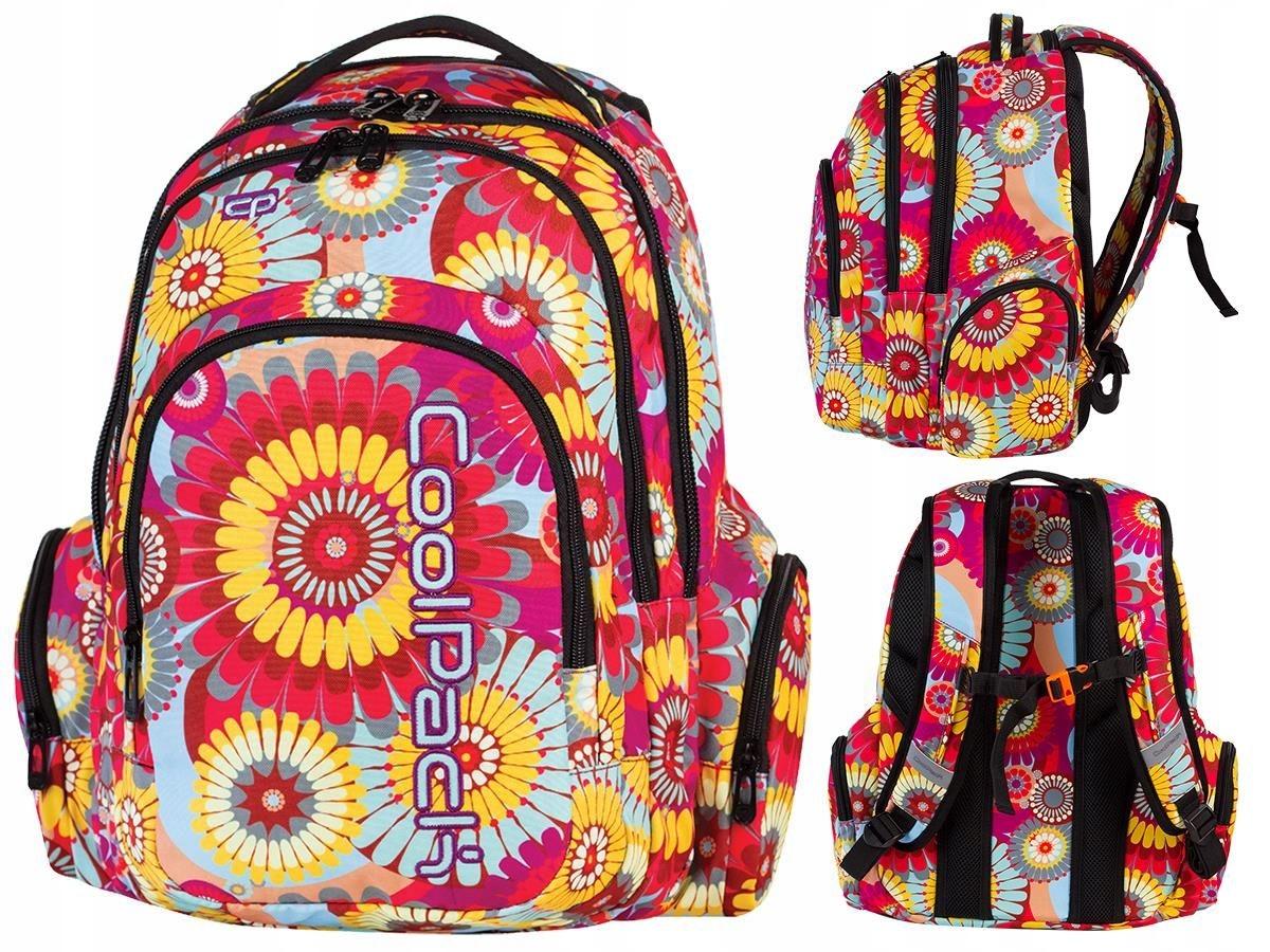 6ffa9334c0f6c Kolorowy plecak w kwiaty dla dziewczyny CoolPack - 7606617233 ...