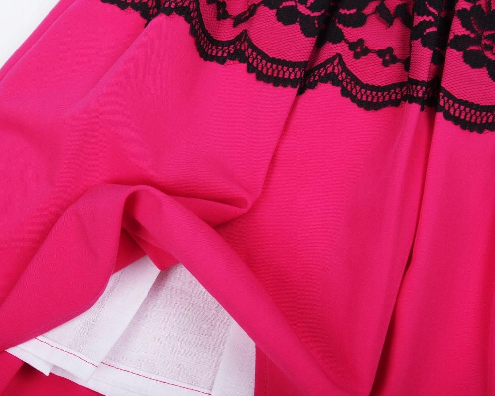 717940111b Sukienka z koronką dla dziewczynki FUKSJA 128 - 7491004404 ...