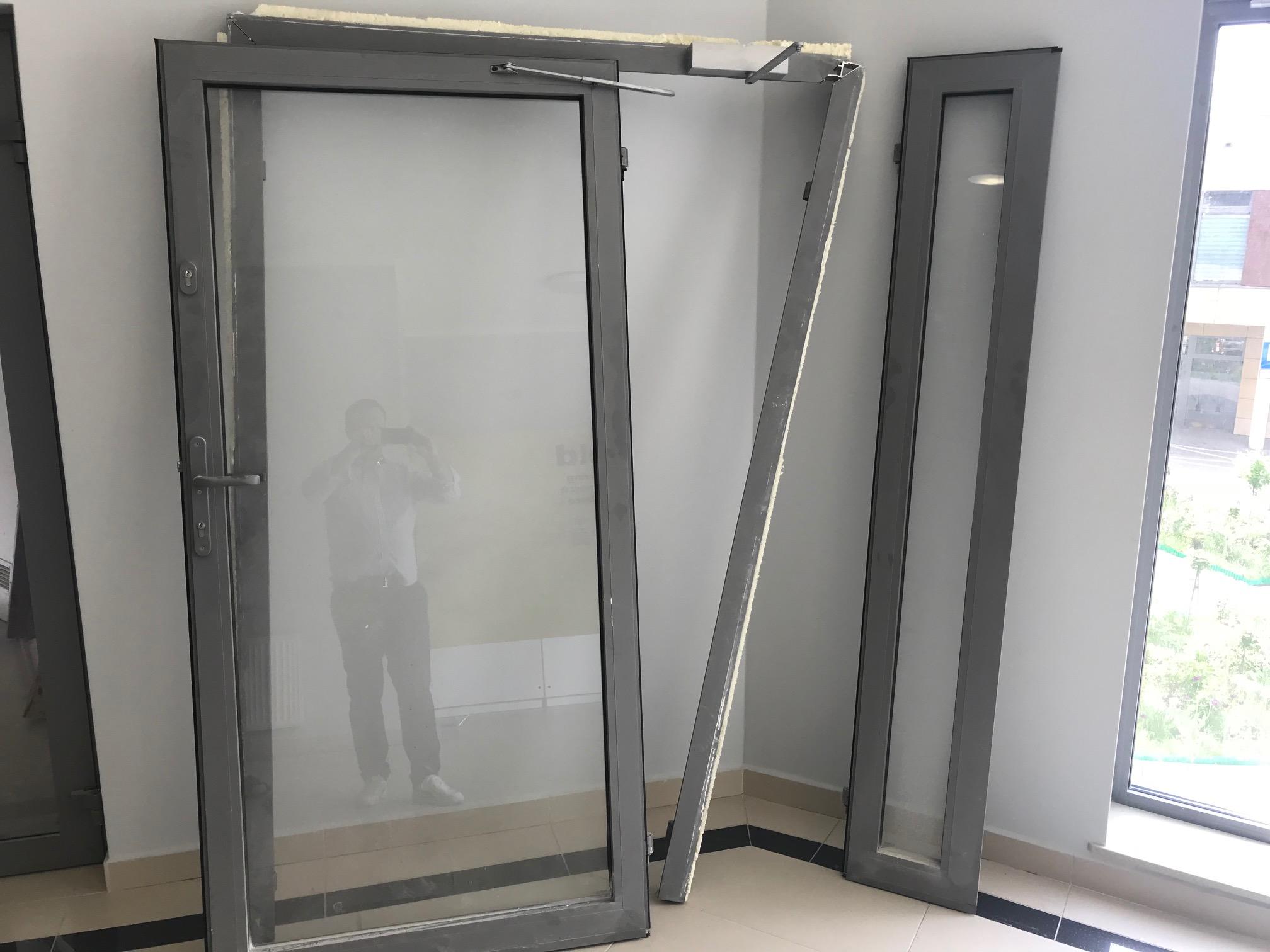 Nowość 2 x drzwi aluminiowe zewnętrzne dwuskrzydłowe 1400 - 7331173452 XP12