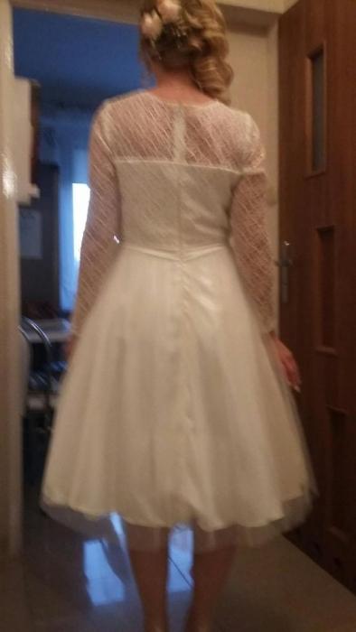 d7746cda7d sukienka do ślubu cywilnego - 7022471734 - oficjalne archiwum allegro