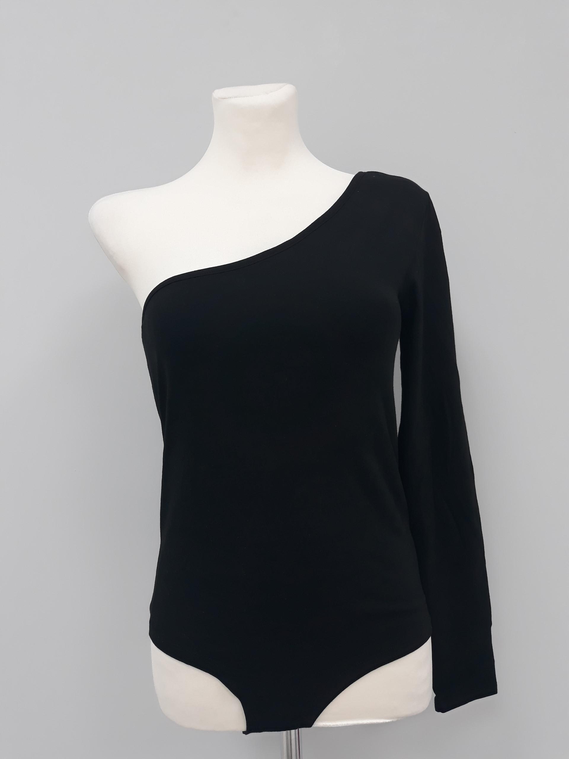27083e42746962 nowe czarne body damskie sexy na jedno ramię - 7711584013 ...