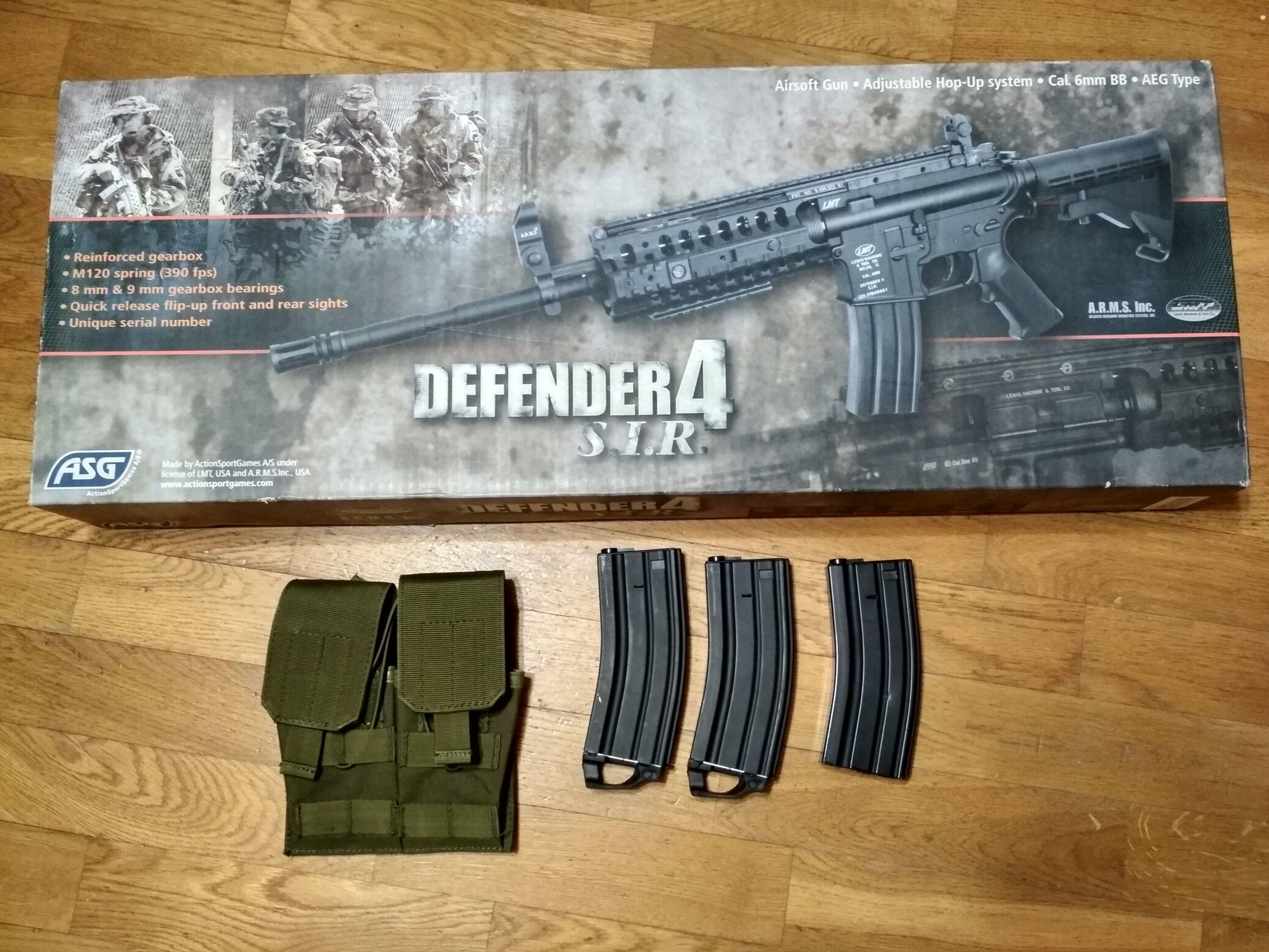 Replika ASG M4 - ASG LMT Defender 4 SIR Full Metal