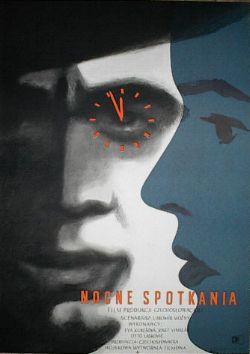 Plakat Wojciech Zamecznik Nocne Spotkania 1955 7235256154