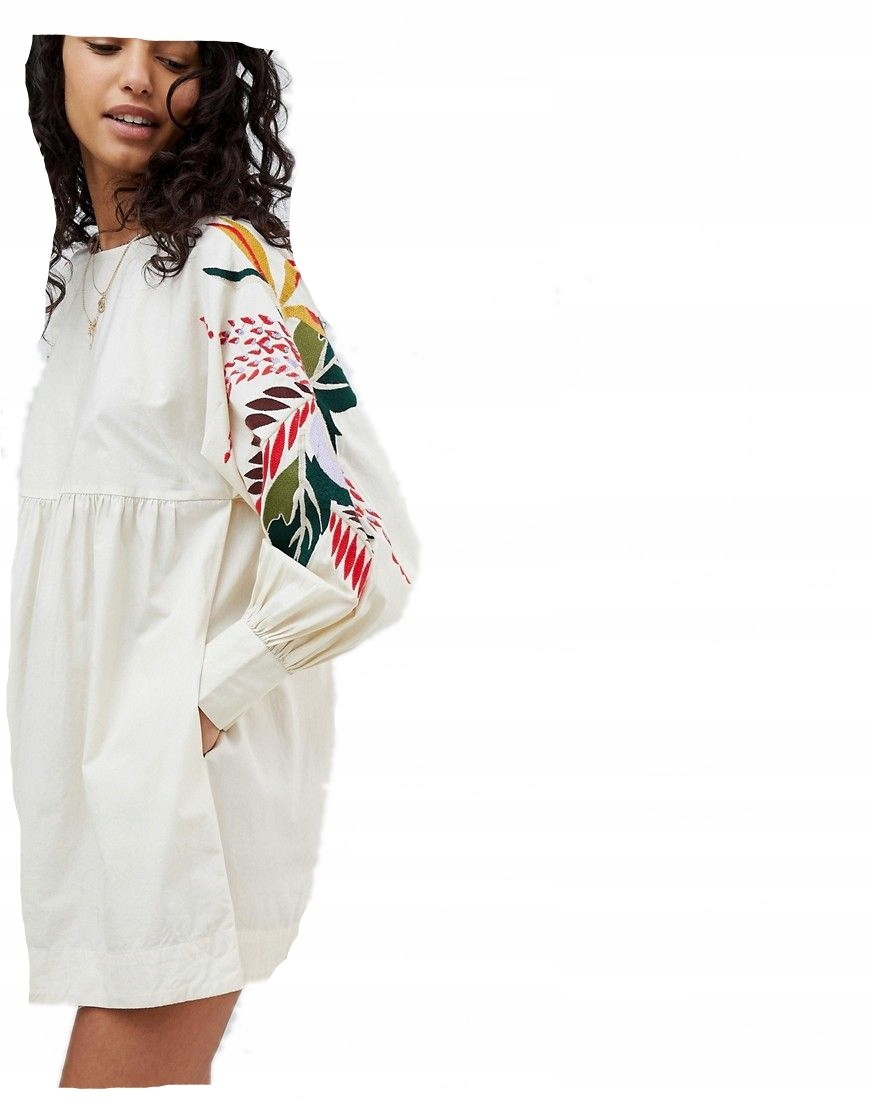 41b3a74554 FREE PEOPLE sukienka MINI kremowa HAFT XS 34 - 7205419101 ...