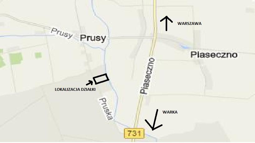Działka budowlana 11200m2 Prusy/Warka