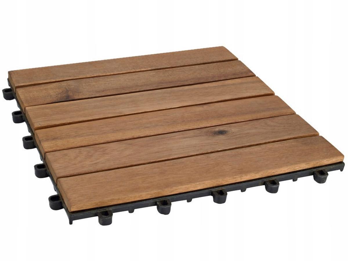 Płytki Podłogowe Tarasowe Z Drewna Akacjowego 5szt