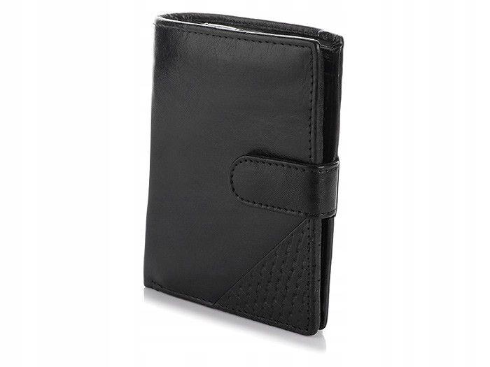 6133b92bdd3ea Skórzany pionowy męski portfel RFID pojemny R69 - 7630587638 ...