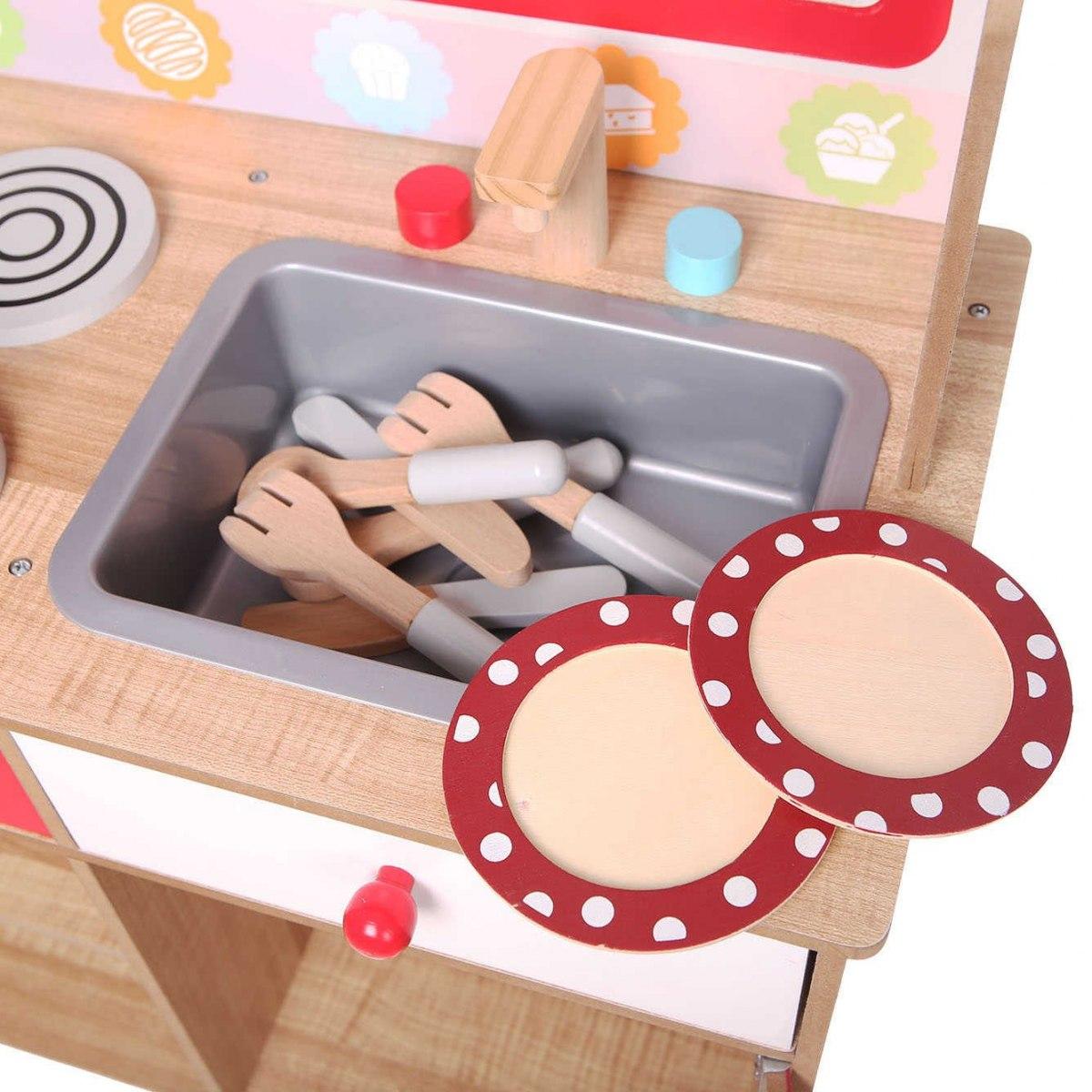 Ecotoys Kuchnia Drewniana Wyposazenie Dla Dzieci 7236891793