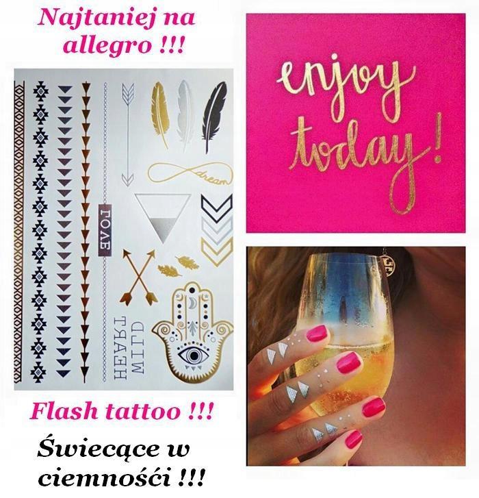 świecące W Ciemności Złote Tatuaże Flash Tattoo 5702919222