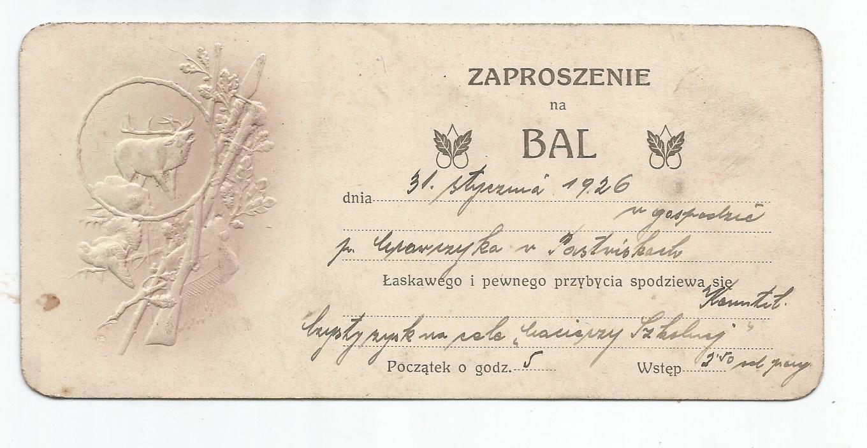Dok 03 04 Cieszyn Bal Myśliwski 1926r 7309414872 Oficjalne