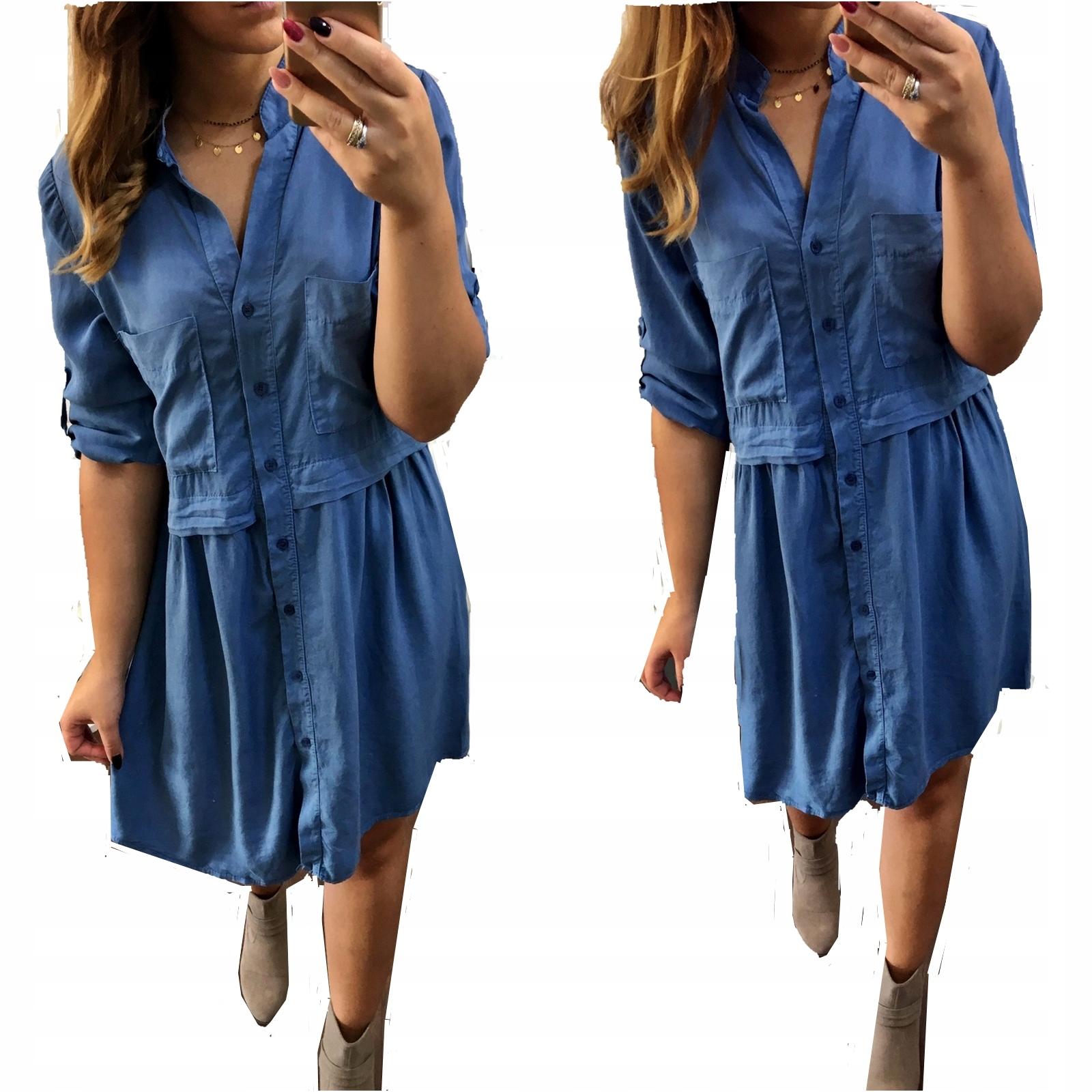 8286a8c5 Sukienka KOSZULOWA Jeans Oversize L XL JEANSOWA - 7679226573 ...
