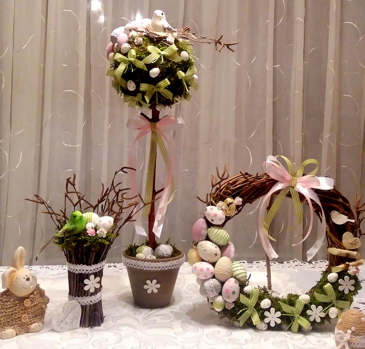 Drzewko Wielkanocne Wianek Stroik Ostatni 7215858114